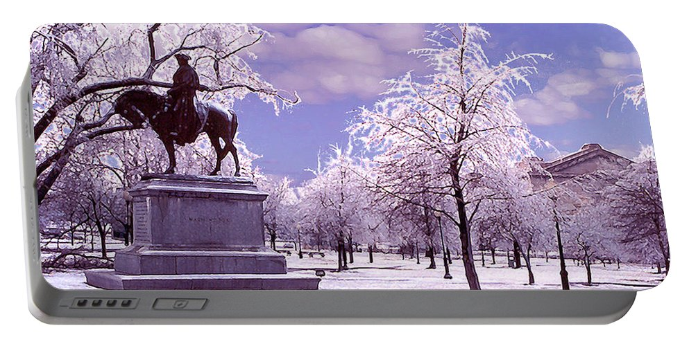 Landscape Portable Battery Charger featuring the photograph Washington Square Park by Steve Karol
