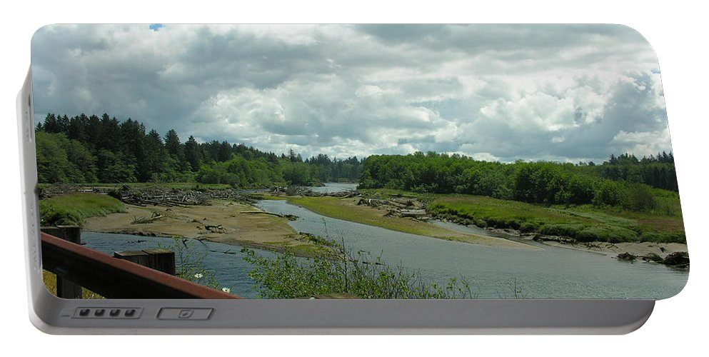 Rail Portable Battery Charger featuring the photograph Washinton Coast 2 by Diane Greco-Lesser