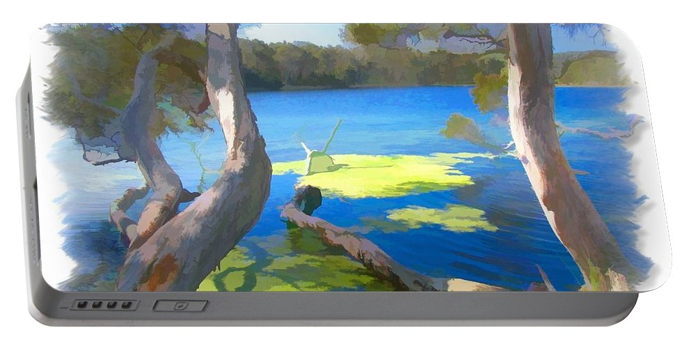 Tree Portable Battery Charger featuring the photograph Wat-0002 Avoca Estuary by Digital Oil