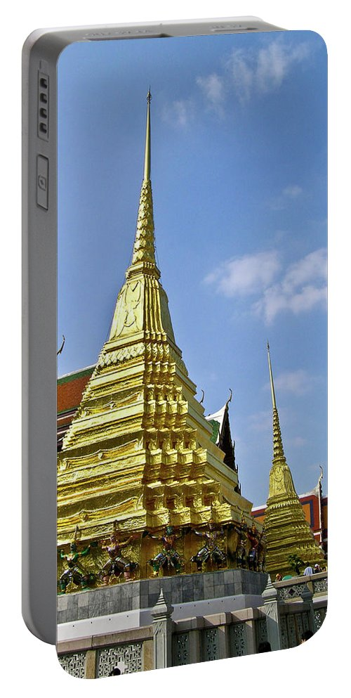 Wat Po Portable Battery Charger featuring the photograph Wat Po Bangkok Thailand 18 by Douglas Barnett