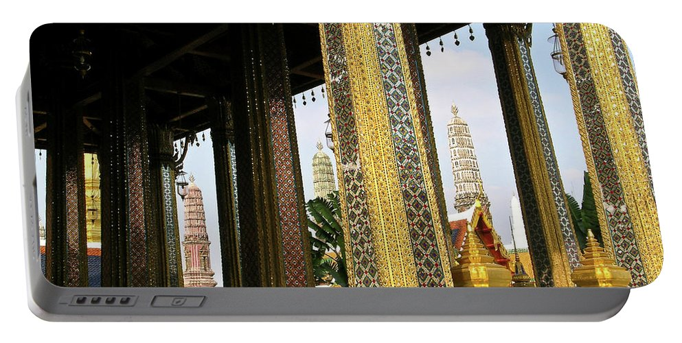 Wat Po Portable Battery Charger featuring the photograph Wat Po Bangkok Thailand 22 by Douglas Barnett