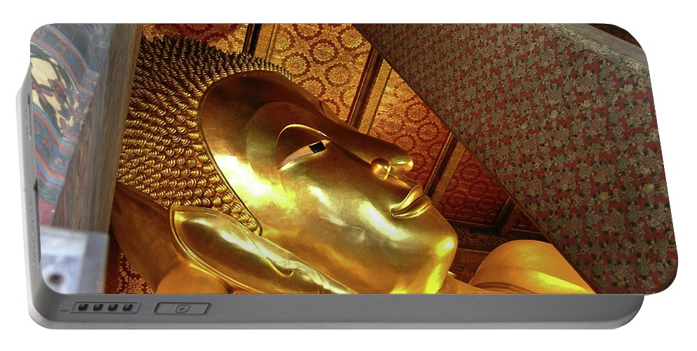 Wat Po Portable Battery Charger featuring the photograph Wat Po Bangkok Thailand 31 by Douglas Barnett
