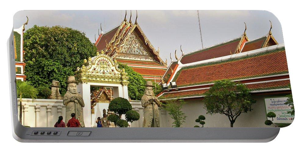 Wat Po Portable Battery Charger featuring the photograph Wat Po Bangkok Thailand 35 by Douglas Barnett