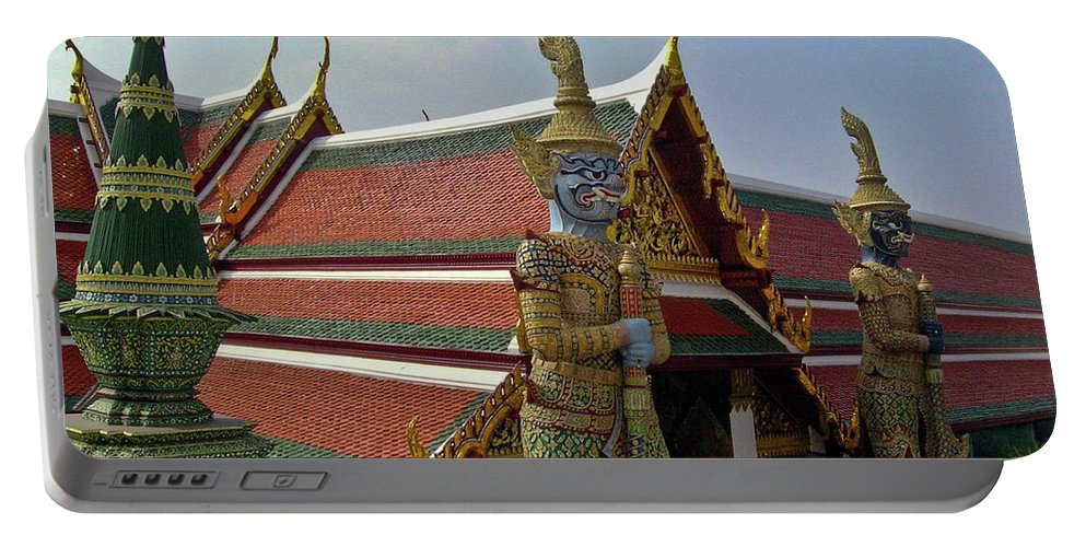 Wat Po Portable Battery Charger featuring the photograph Wat Po Bangkok Thailand 7 by Douglas Barnett