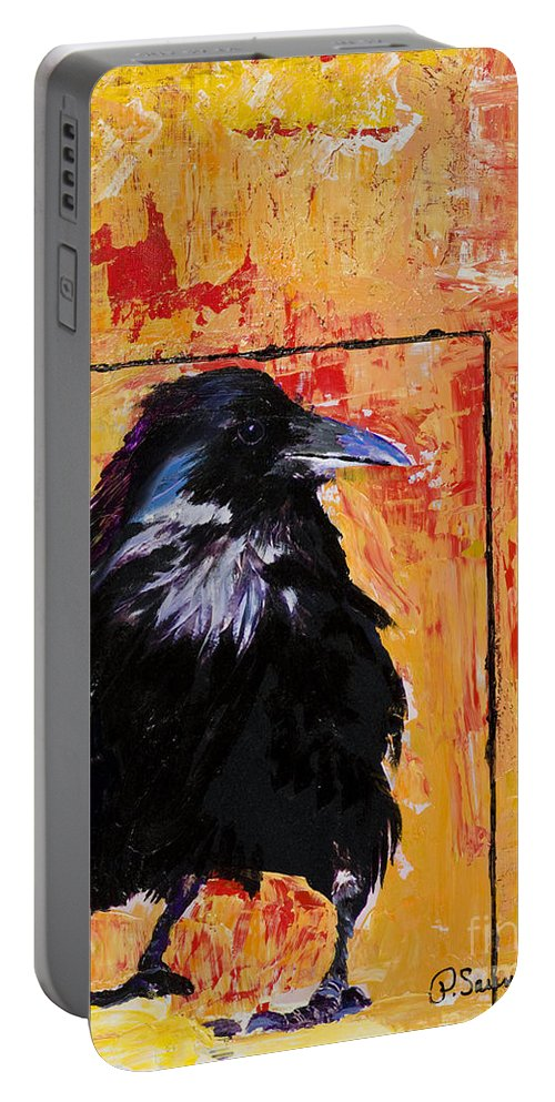 Large Decorative Fine Art Prints Portable Battery Charger featuring the painting Watch And Learn by Pat Saunders-White