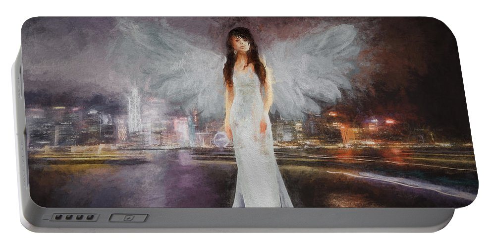 Angel Portable Battery Charger featuring the photograph Watching Over by Ericamaxine Price