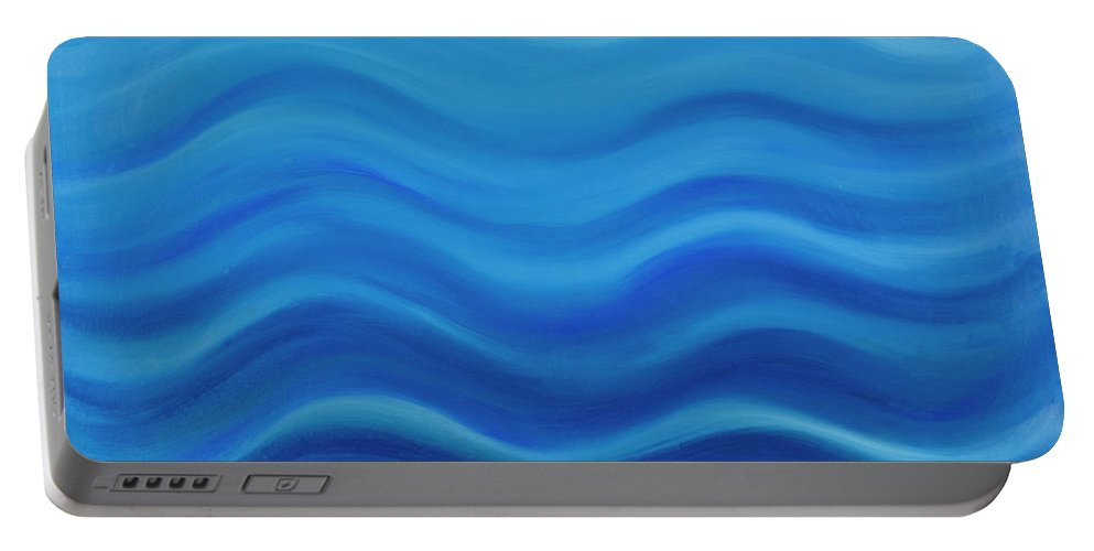 Water Portable Battery Charger featuring the painting Water by Adamantini Feng shui