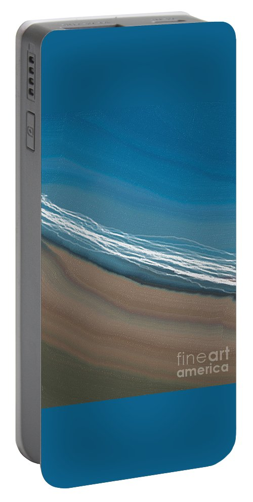 Water Portable Battery Charger featuring the digital art Water And Sand by Julie Grimshaw