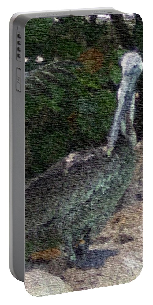 Bird Portable Battery Charger featuring the mixed media Water Bird by Pharris Art