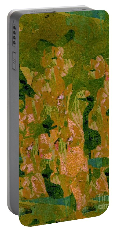 Digital Art Portable Battery Charger featuring the digital art Water Bird Tapestry by Nancy Kane Chapman