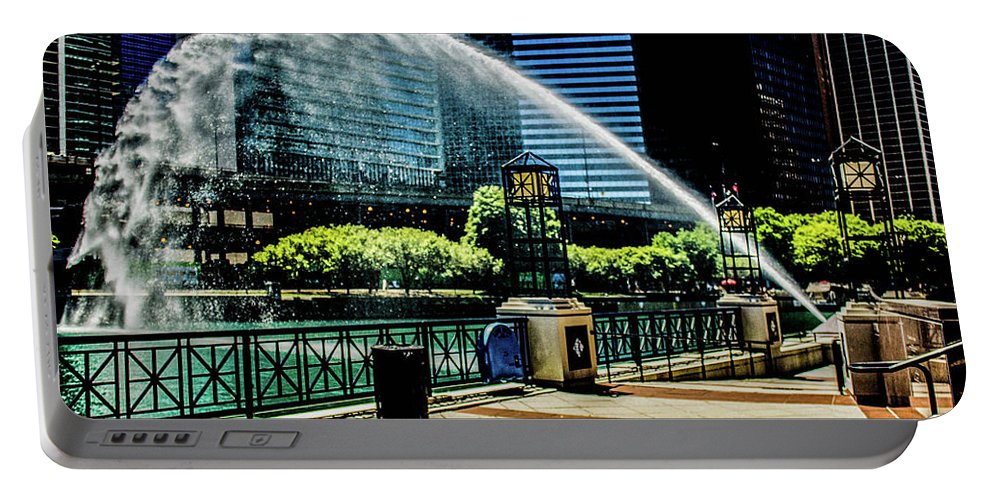 Water Canon Portable Battery Charger featuring the photograph Water Canon In Color by Tim Bartley