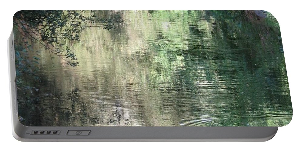 Reflection Portable Battery Charger featuring the photograph Water Color by Kelly Mezzapelle