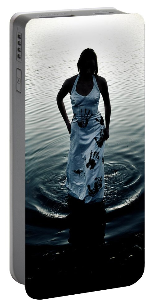 Hand Prints Portable Battery Charger featuring the photograph Water Dress by Scott Sawyer