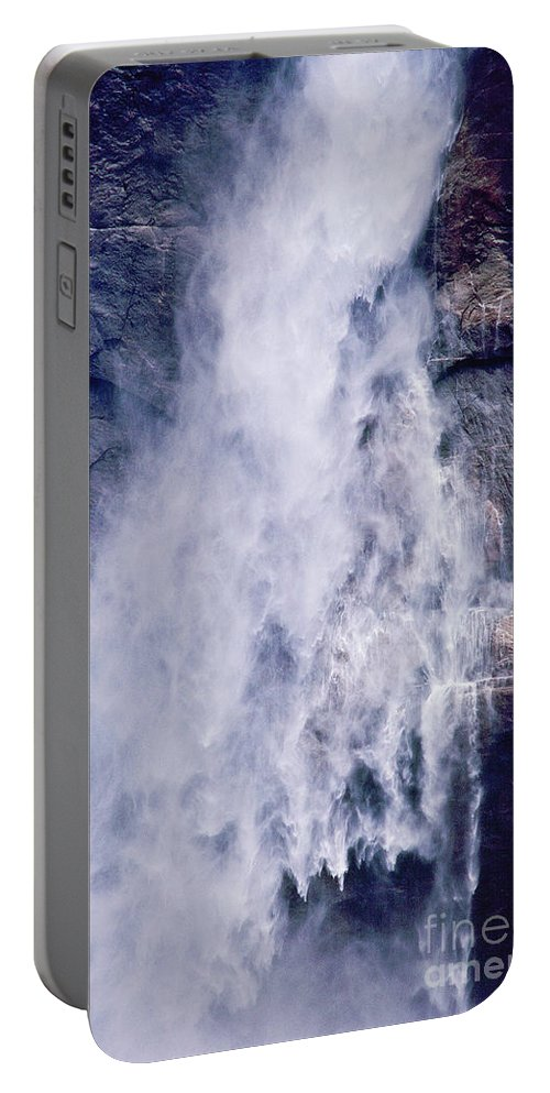 Waterfall Portable Battery Charger featuring the photograph Water Drops by Kathy McClure