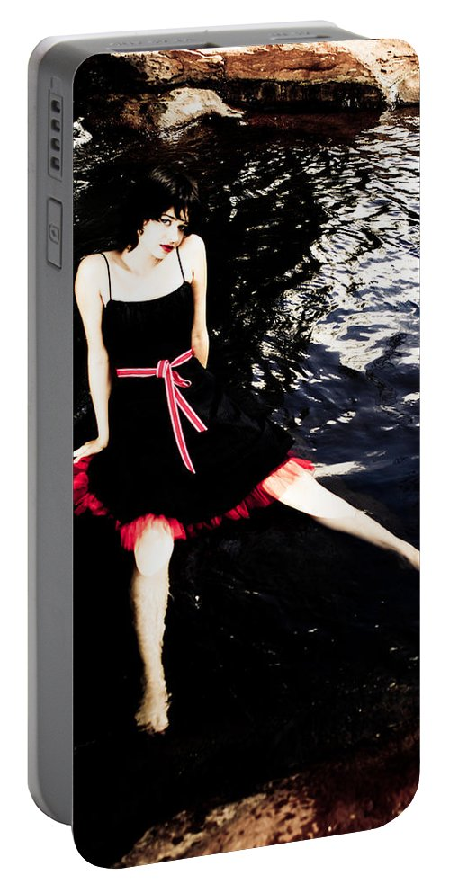 Woman Portable Battery Charger featuring the photograph Water Faerie by Scott Sawyer