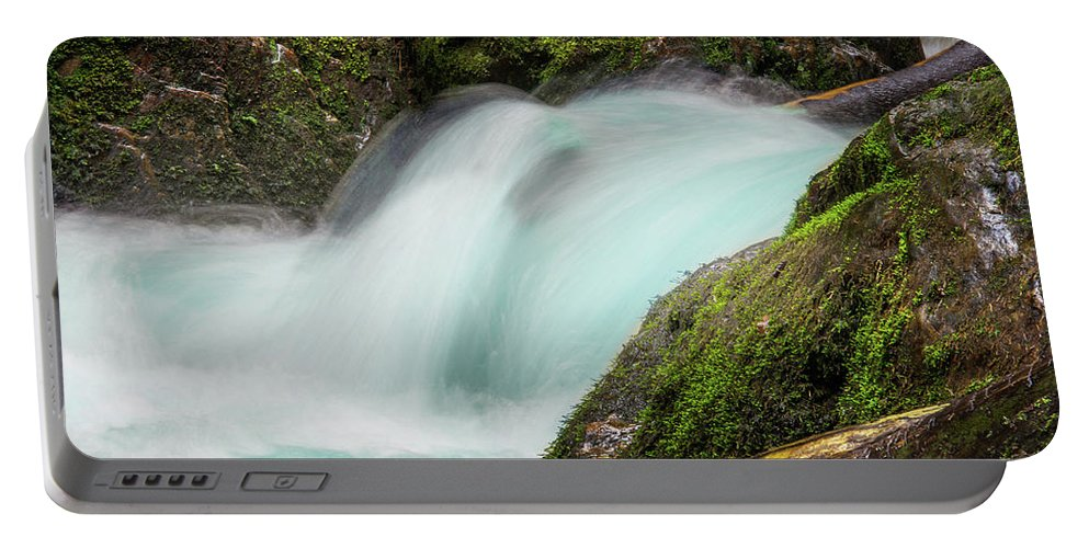 Jenny Rainbow Fine Art Photography Portable Battery Charger featuring the photograph Water Flow by Jenny Rainbow