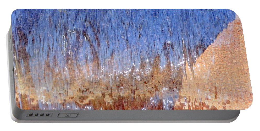 Digital Portable Battery Charger featuring the photograph Water Fountain Abstract #63 by Ed Weidman