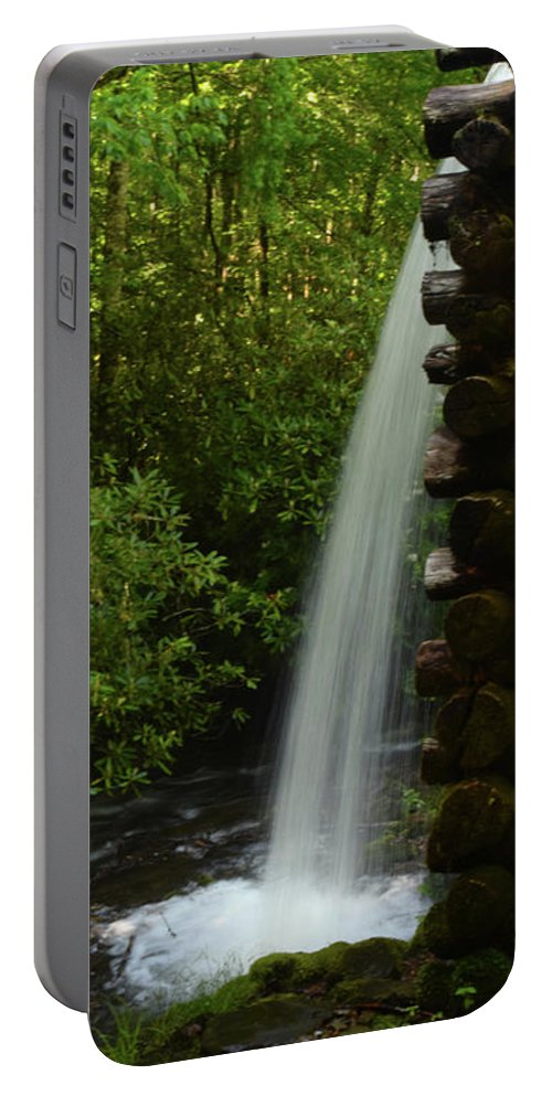 Landscape Portable Battery Charger featuring the photograph Water From The Flume by Pat Turner