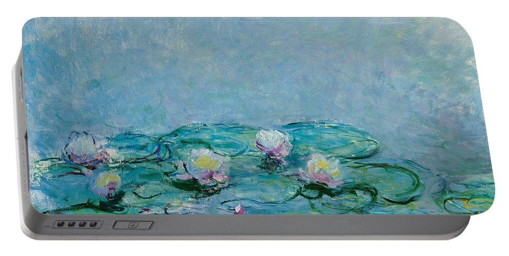 French Portable Battery Charger featuring the painting Water Lilies by Claude Monet