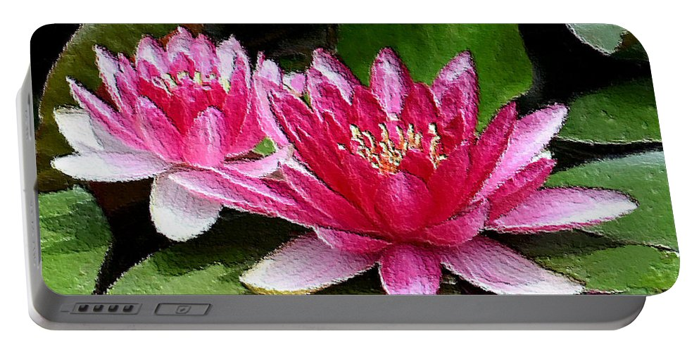 Water Lily Portable Battery Charger featuring the photograph Water Lilies by Kristin Elmquist