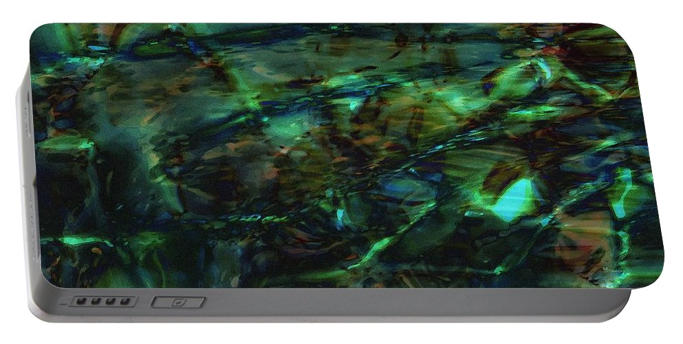 Abstraction Portable Battery Charger featuring the digital art Water Play by Max Steinwald