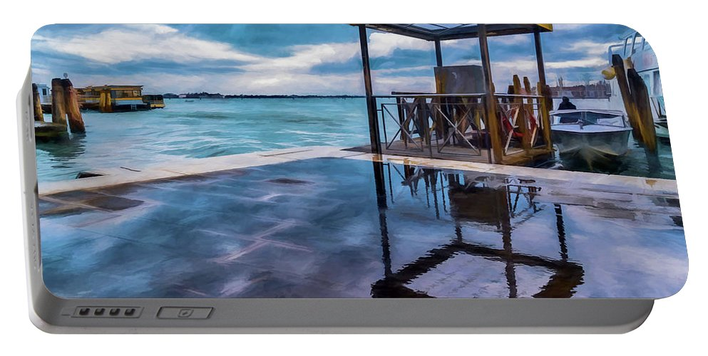 Water Portable Battery Charger featuring the digital art Water Taxi by Ronald Bolokofsky