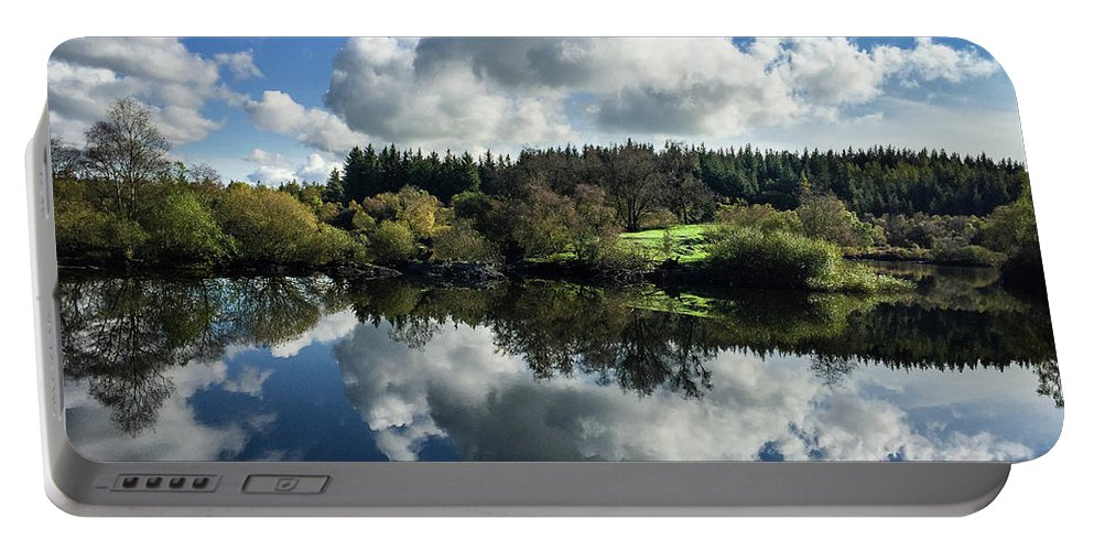 Betws-y-coed Portable Battery Charger featuring the photograph Water Vapour On A Mirror by Geoff Smith
