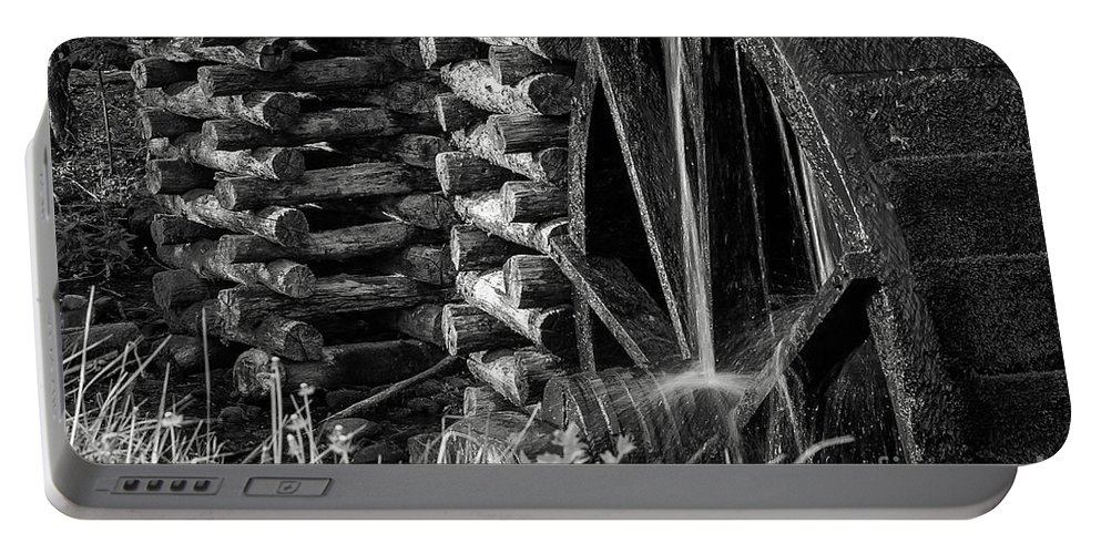 Cades Cove Portable Battery Charger featuring the photograph Water Wheel 2 by Bob Phillips