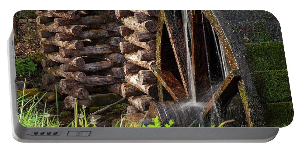 Cades Cove Portable Battery Charger featuring the photograph Water Wheel by Bob Phillips