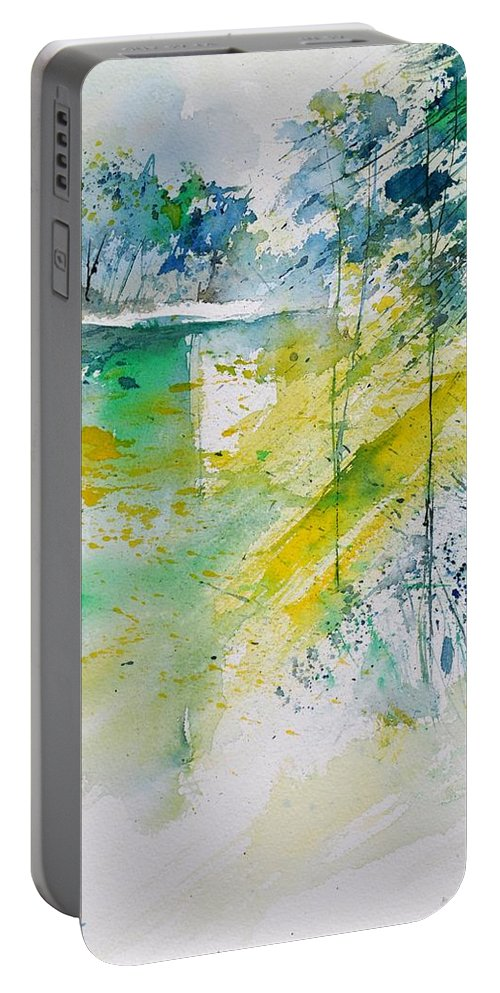 Landscape Portable Battery Charger featuring the painting Watercolor 010105 by Pol Ledent