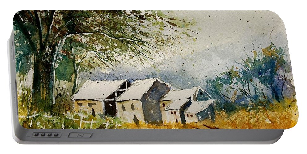 Landscape Portable Battery Charger featuring the painting Watercolor 010708 by Pol Ledent