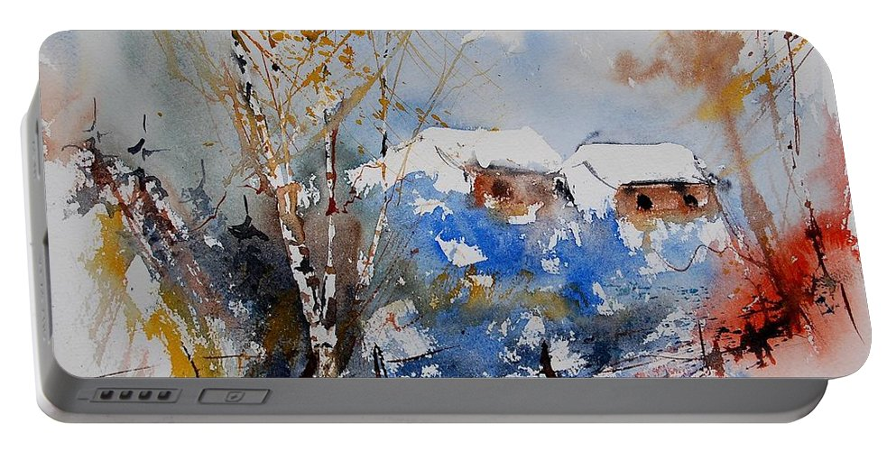 Landscape Portable Battery Charger featuring the painting Watercolor 011020 by Pol Ledent
