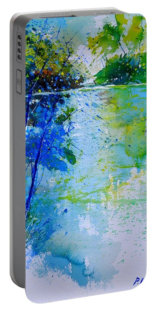 Pond Portable Battery Charger featuring the painting Watercolor 012112 by Pol Ledent