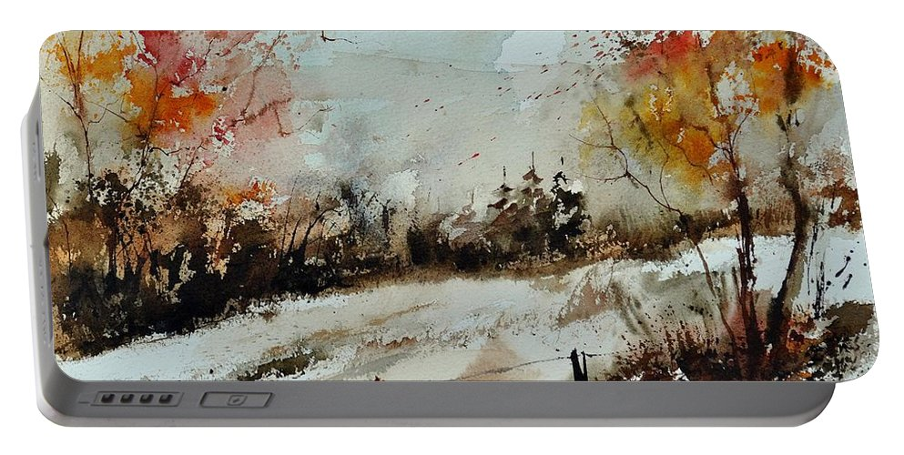 Portable Battery Charger featuring the painting Watercolor 018090 by Pol Ledent