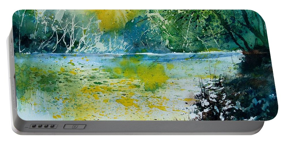 Pond Portable Battery Charger featuring the painting Watercolor 051108 by Pol Ledent