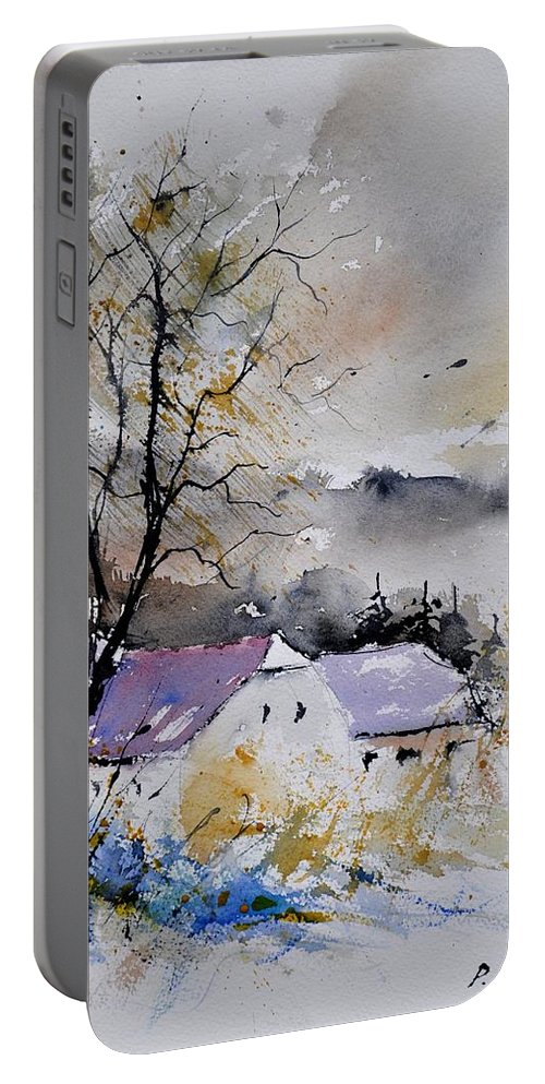 Landscape Portable Battery Charger featuring the painting Watercolor 112012 by Pol Ledent