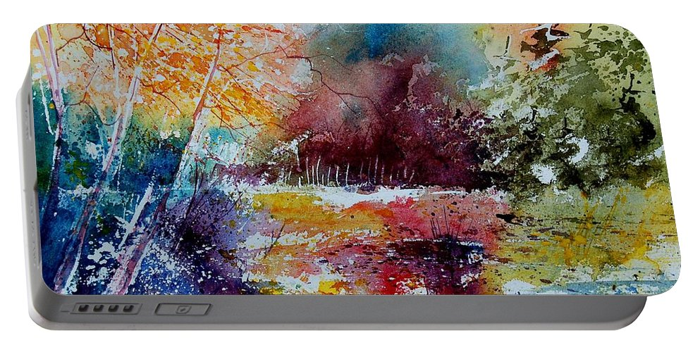 Pond Portable Battery Charger featuring the painting Watercolor 140908 by Pol Ledent