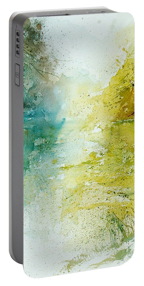 Pond Nature Landscape Portable Battery Charger featuring the painting Watercolor 24465 by Pol Ledent