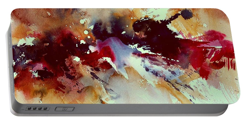 Abstract Portable Battery Charger featuring the painting Watercolor 301107 by Pol Ledent