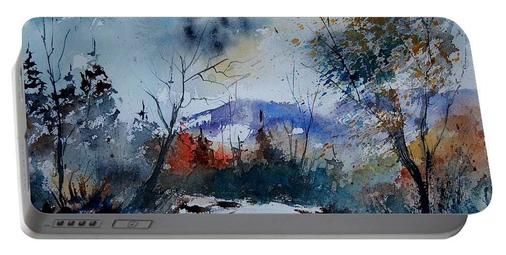 Landscape Portable Battery Charger featuring the painting Watercolor 802120 by Pol Ledent