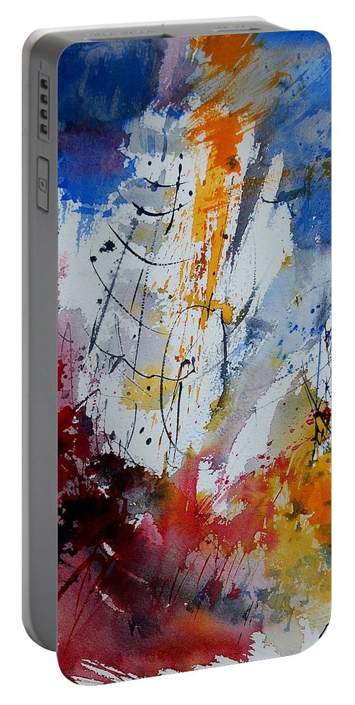 Abstract Portable Battery Charger featuring the painting Watercolor 901120 by Pol Ledent