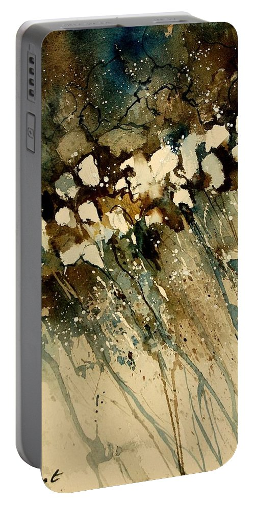 Abstract Portable Battery Charger featuring the painting Watercolor 901140 by Pol Ledent