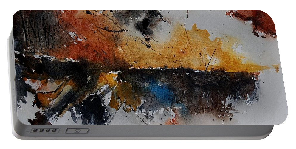 Abstract Portable Battery Charger featuring the painting Watercolor 901150 by Pol Ledent