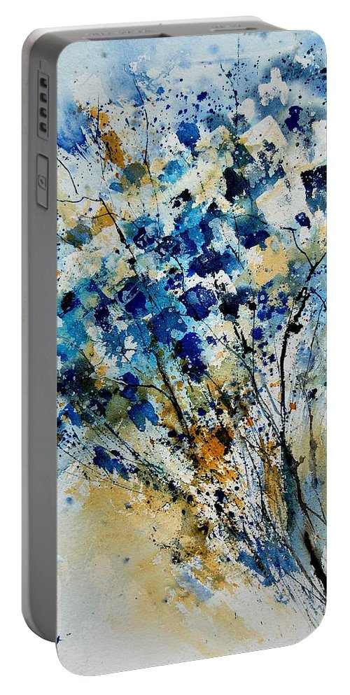 Flowers Portable Battery Charger featuring the painting Watercolor 907003 by Pol Ledent