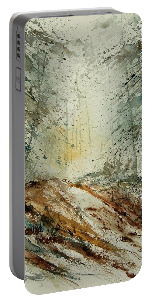 River Portable Battery Charger featuring the painting Watercolor 907013 by Pol Ledent