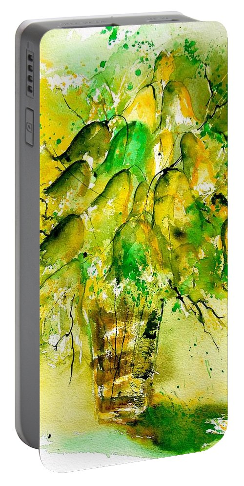 Flowers Portable Battery Charger featuring the painting Watercolor 90801 by Pol Ledent