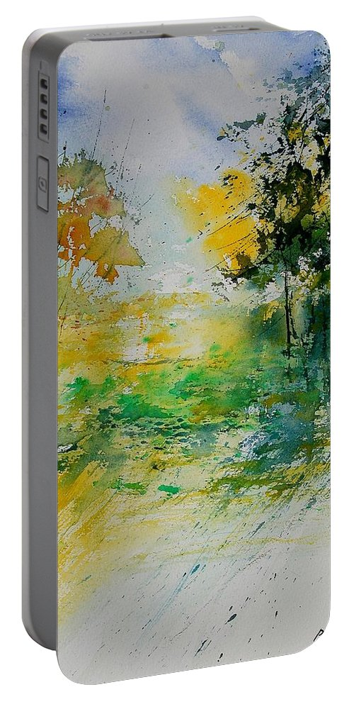 Water Portable Battery Charger featuring the painting Watercolor 908051 by Pol Ledent