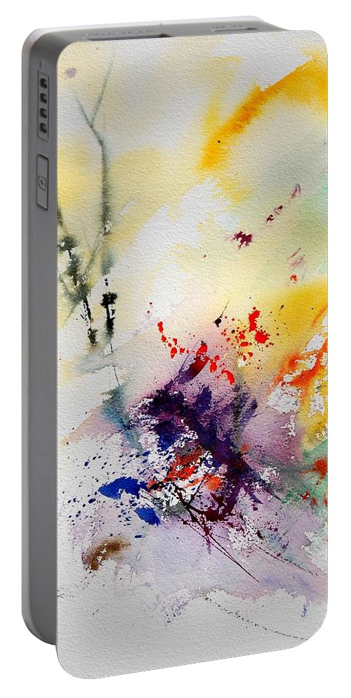 Abstract Portable Battery Charger featuring the painting Watercolor 908090 by Pol Ledent