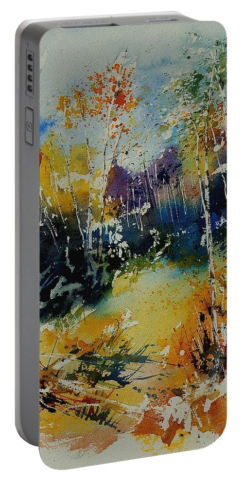 Tree Portable Battery Charger featuring the painting Watercolor 909052 by Pol Ledent