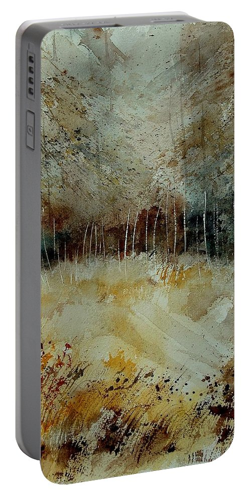 Tree Portable Battery Charger featuring the painting Watercolor 9090722 by Pol Ledent